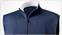 Flat Back Rib Half-Zip Pullover Vest