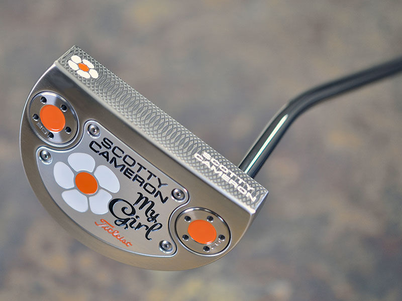 For Scotty's 11th My Girl, he designed a modified Select GoLo featuring a misted raw stainless steel finish with a unique, engraved daisy flower design.