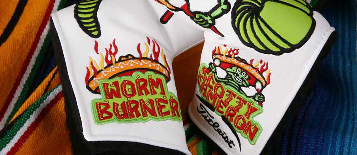 Scotty Cameron celebrated Cinco de Mayo by creating the Worm Burner Headcover.