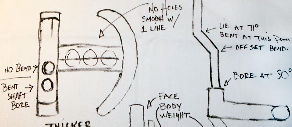 Scotty Cameron sketched the Futura putter.