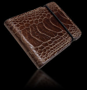 Ostrich Cash Cover - Brown