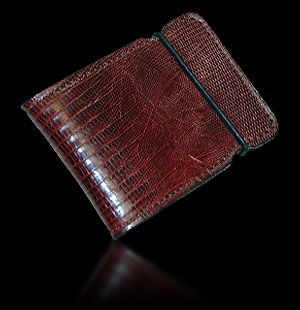 Tejus Lizard Cash Cover - Burgundy