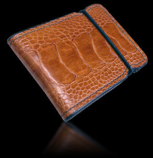 Ostrich Cash Cover - Light Brown