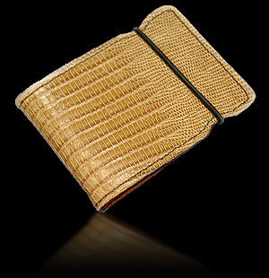 Tejus Lizard Cash Cover - Tan
