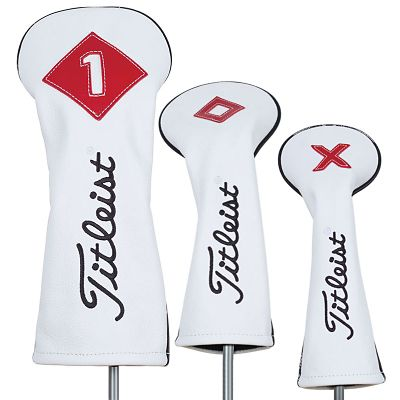 White Leather Head Covers