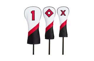White, Black and Red Titleist Leather Headcovers