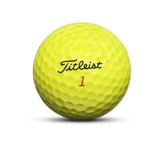 Titleist DT TruSoft Golf Ball Yellow Nameplate