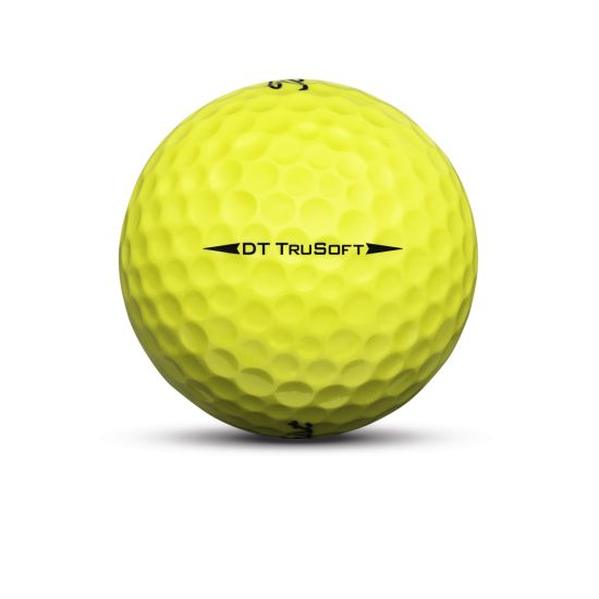 Titleist DT TruSoft Golf Ball Yellow Sidestamp
