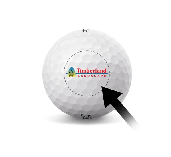 Custom Titleist Golf Ball - Small Business Logo - Wannamoisett