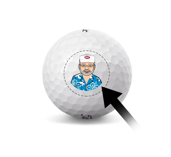 Custom Titleist Golf Ball - Small Business Logo