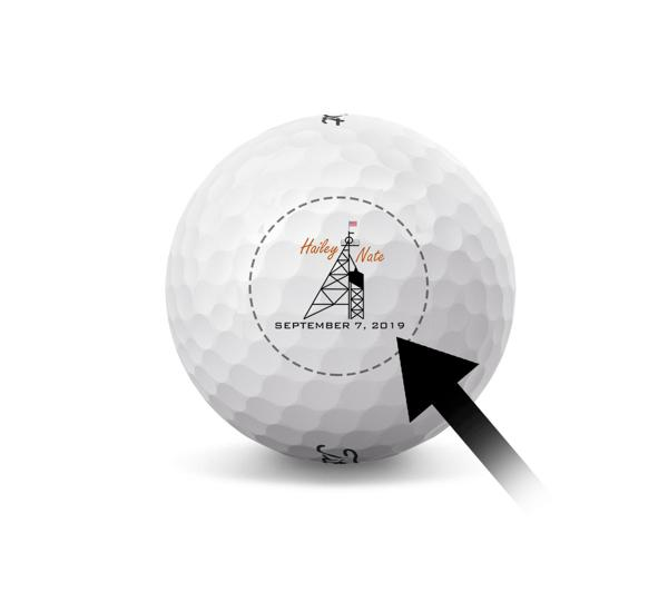 Custom Titleist Golf Ball - Small Business Logo - 2