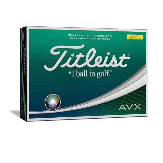 Titleist AVX golf balls Yellow Dozen