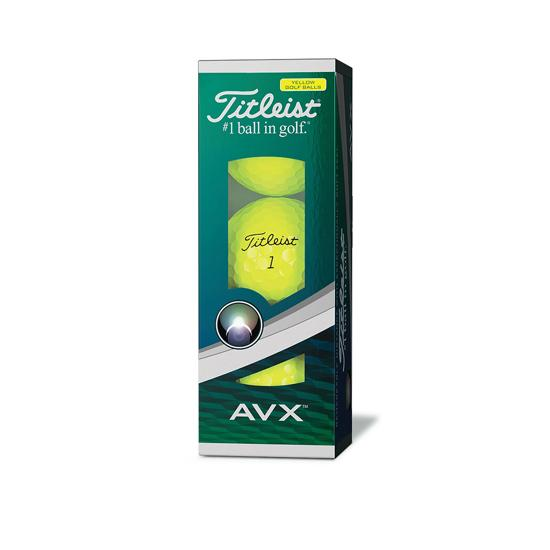 Titleist AVX golf balls Yellow 3-ball sleeve