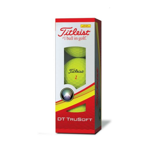 Titleist DT TruSoft Golf Balls Yellow 3-Ball Sleeve