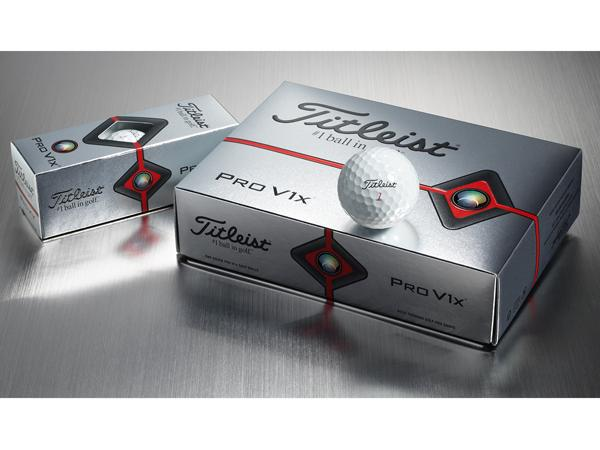 Titleist Pro V1<span>x</span> Golf Ball with box of dozen golf balls and sleeve of 3 golf balls
