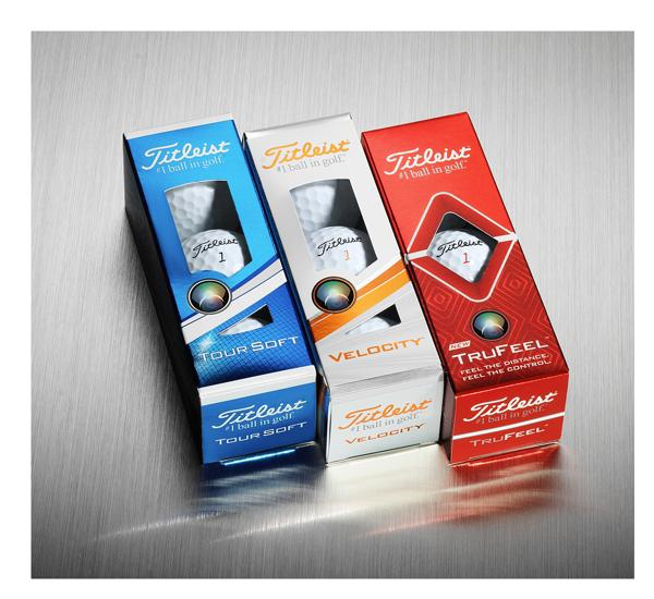 Titleist Tour Soft, Velocity and TruFeel Sleeves