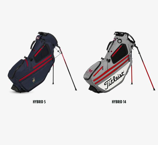 Location Options for Titleist Hybrid Collection Custom Golf Bags