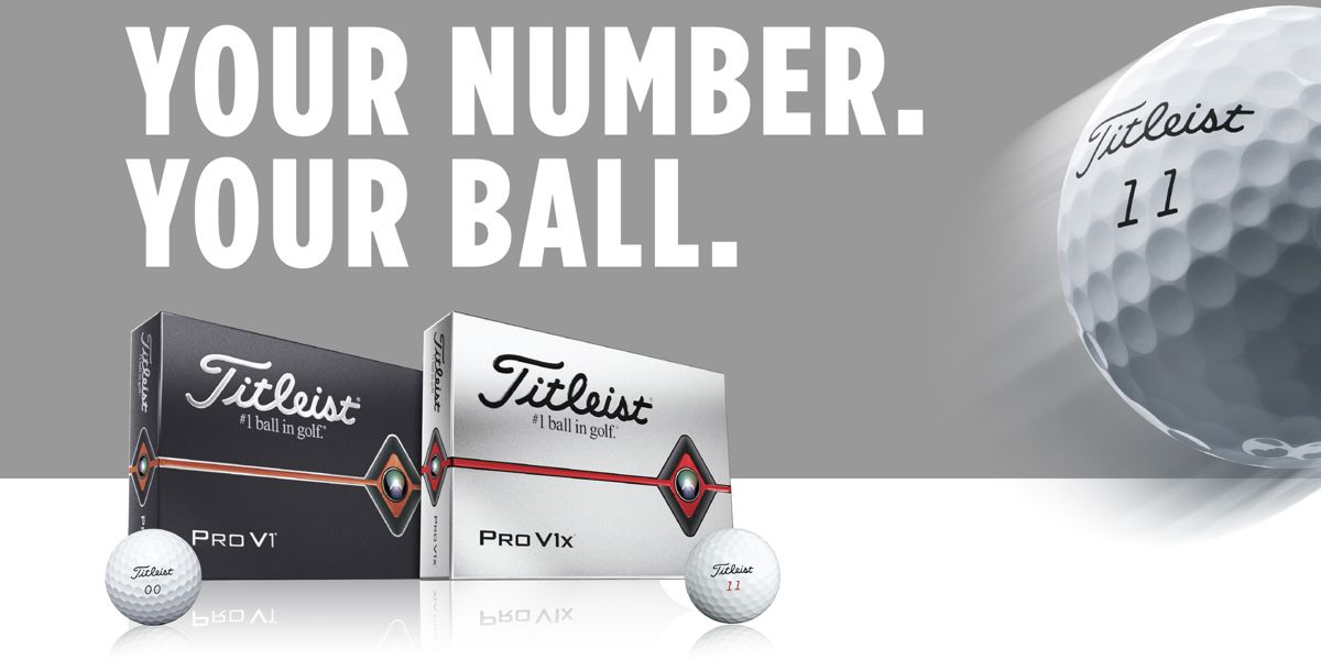 Pro V1 and Pro V1<span>x</span> Golf Balls with Special Play Numbers