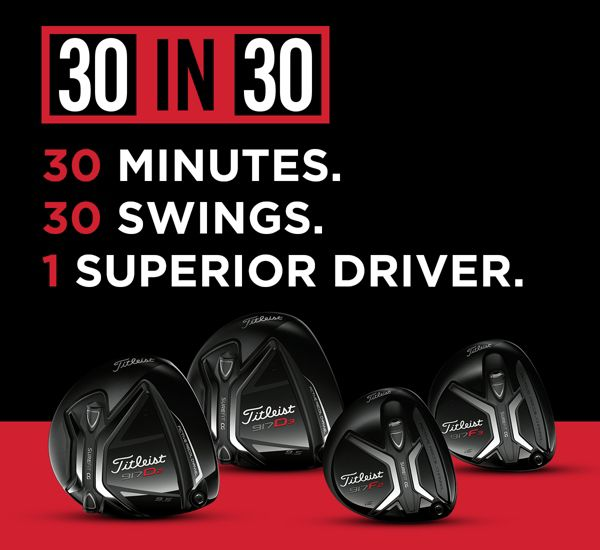 30 MINUTES. 30 SWINGS. 1 SUPERIOR DRIVER.