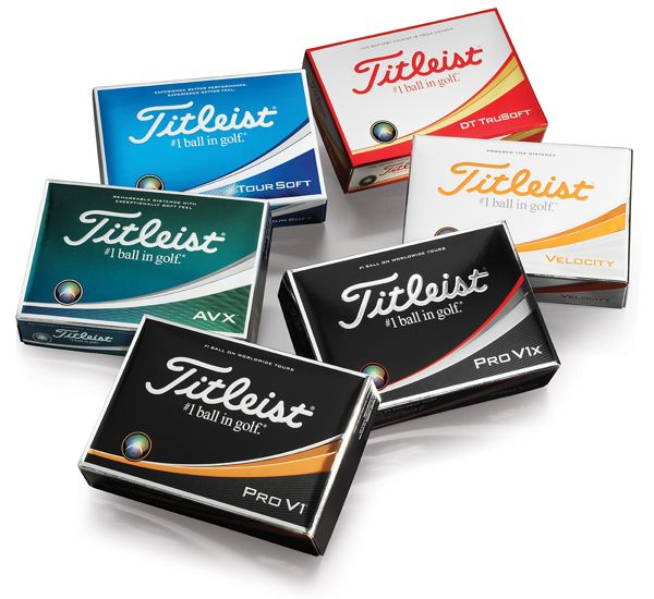 The Titleist golf ball family
