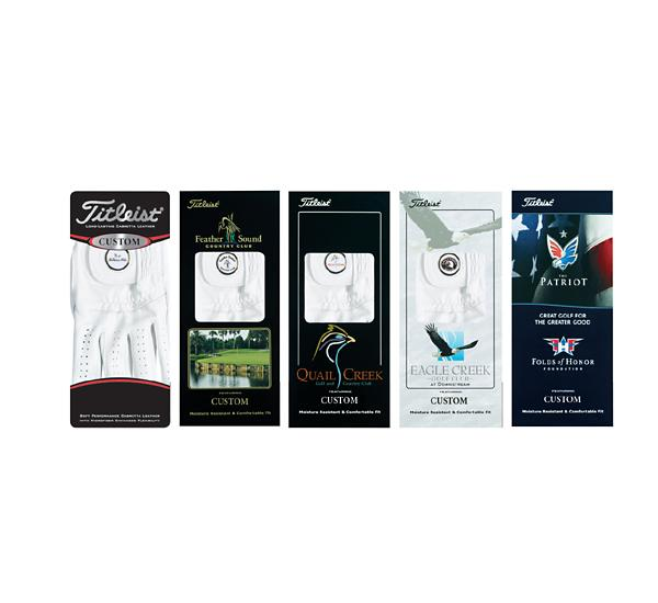 Package Options for Titleist Custom Golf Gloves