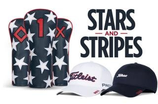 Titleist American Flag Headcovers and 2 Hats