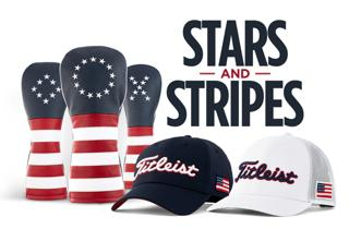 Titleist American Flag Stars and Stripes Headcovers and 2 Hats