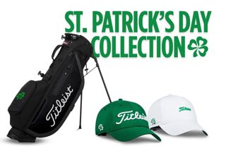 Collection of St. Patrick's Day Themed Golf Hats and Bag
