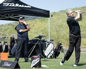 Golfer and Club Fitting Expert at Titleist Thursday fitting event