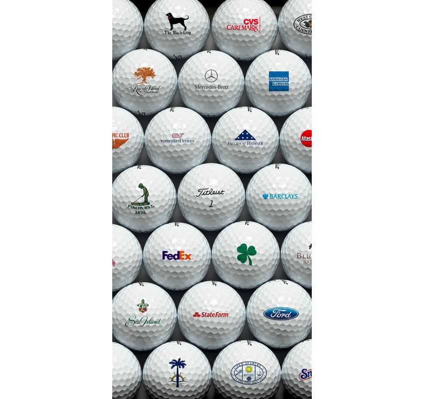 Titleist golf balls with with custom logos