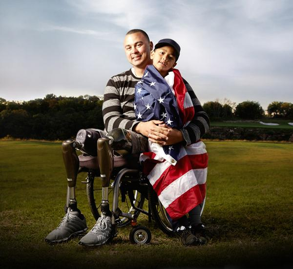 Folds of Honor - Wounded Warrior and Son