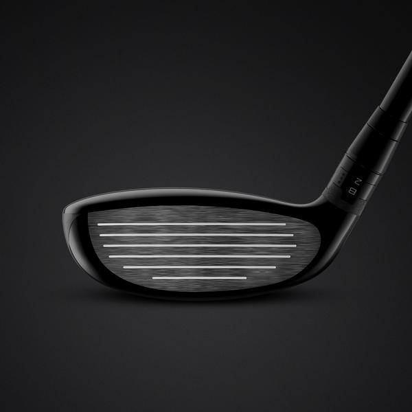 TS Hybrid club face close up emphasizing the benefits of the thinner face