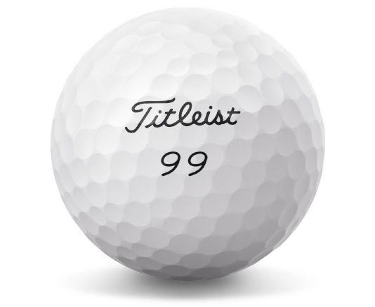 Titleist Pro V1 with play number 99