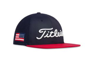 USA Flag Tour Flat Bill Mesh