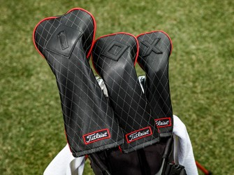 Titleist Jet Black Leather Golf Headcovers
