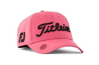 Pink and Black Womens Titleist Golf Hat