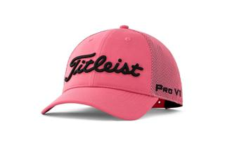 White and Pink Titleist Tour Performance Mesh Hat