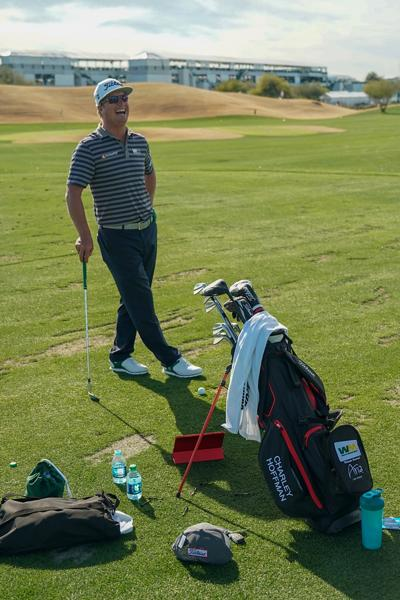 Charley Hoffman Players 4 Plus Golf Bag Waste Management Open