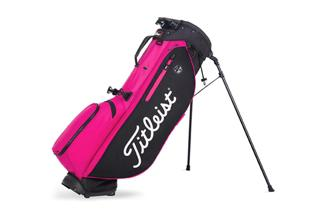Pink and Black Titleist Golf Bag