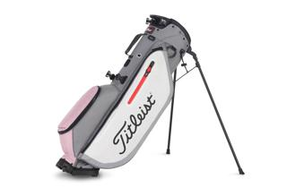 Sleet, White, Pink Titleist Golf Bag