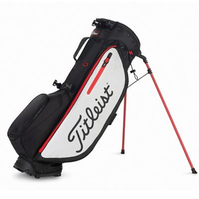 Players 4 Plus Golf Bag Black White and Red