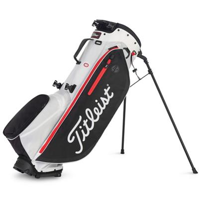 Players 4 Plus Golf Bag White Black and Red