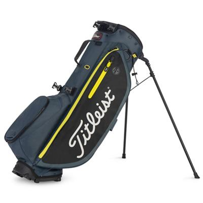Players 4 Plus Golf Bag Charcoal Black and Volt