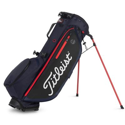 Players 4 Plus Golf Bag Navy Black and Red