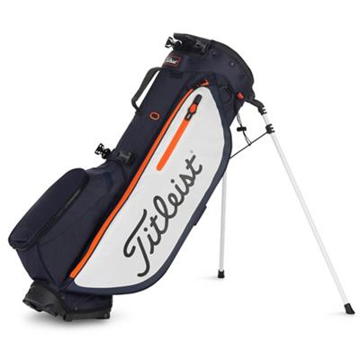Players 4 Plus Golf Bag Navy White and Hazard