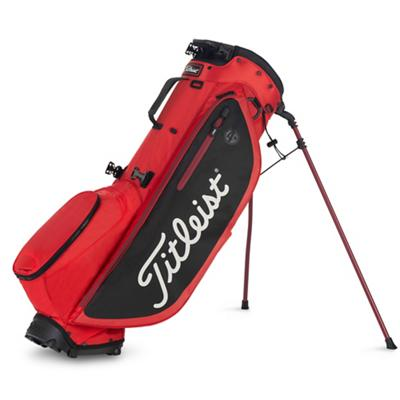 Players 4 Plus Golf Bag Red Black and White