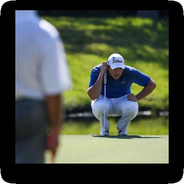 6b0c113b4be97 ... Golfer reading putt ...
