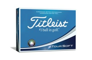 Box of one dozen Titleist Tour Soft golf balls