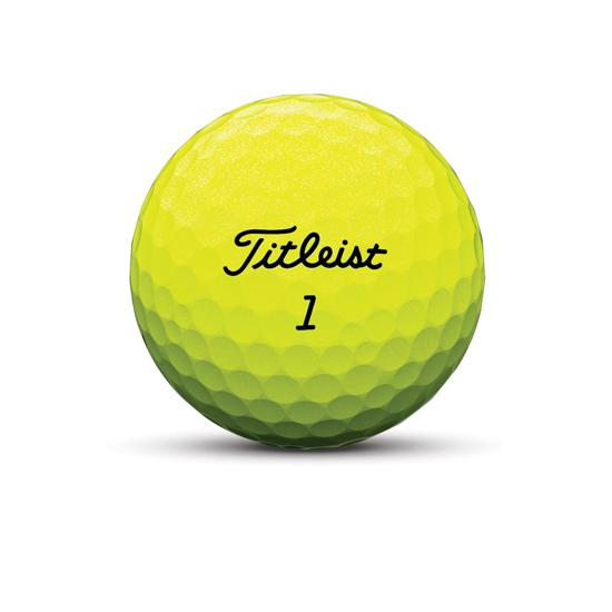 Tour soft yellow golf ball nameplate