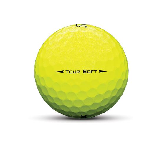 tour Soft yellow sidestamp golf ball